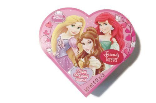 Disney Princess Friends Forever Crispy Chocolaty Hearts (6 Pack)