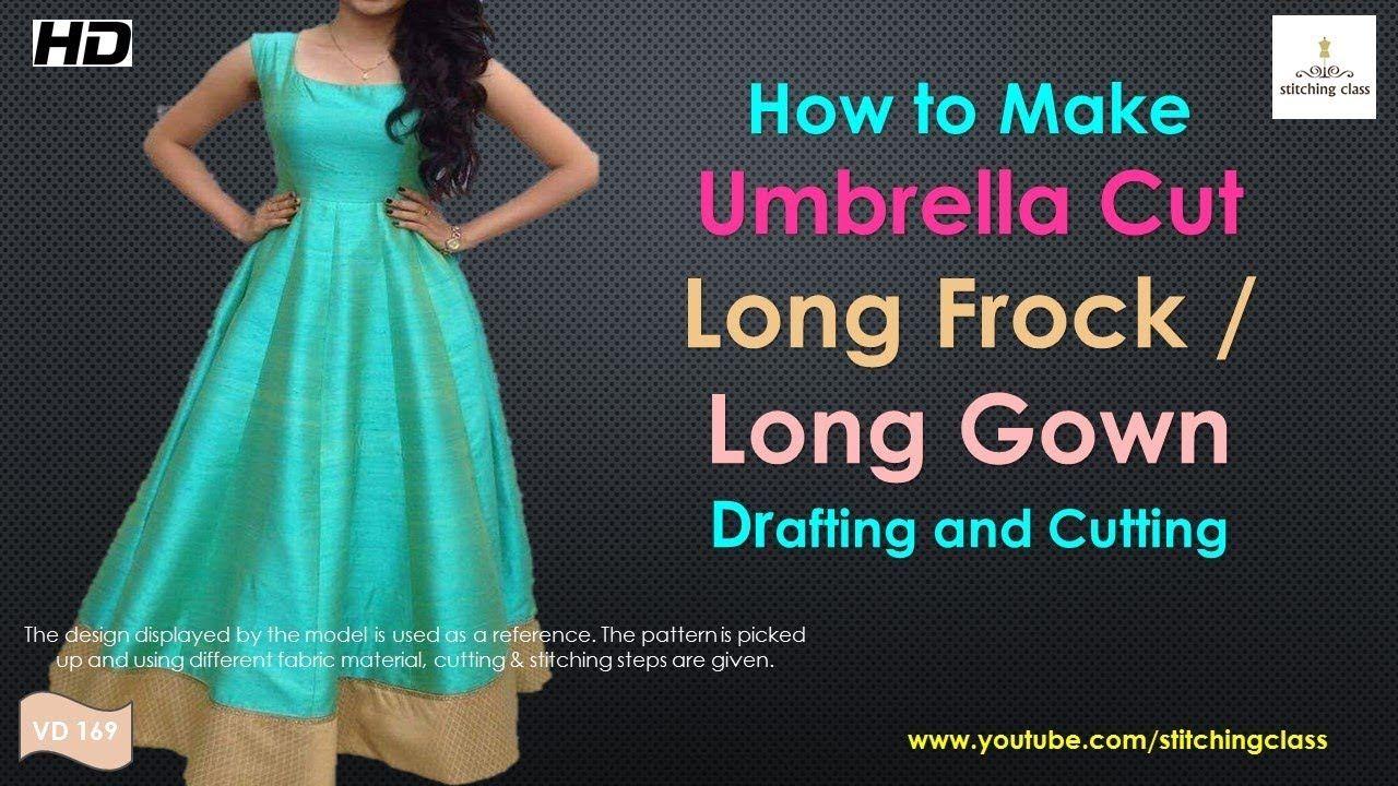 Umbrella cut long frock drafting and cutting umbrella cut long