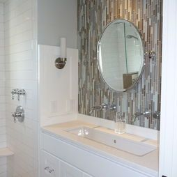 Vertical Glass Tile Design Pictures Remodel Decor And Ideas