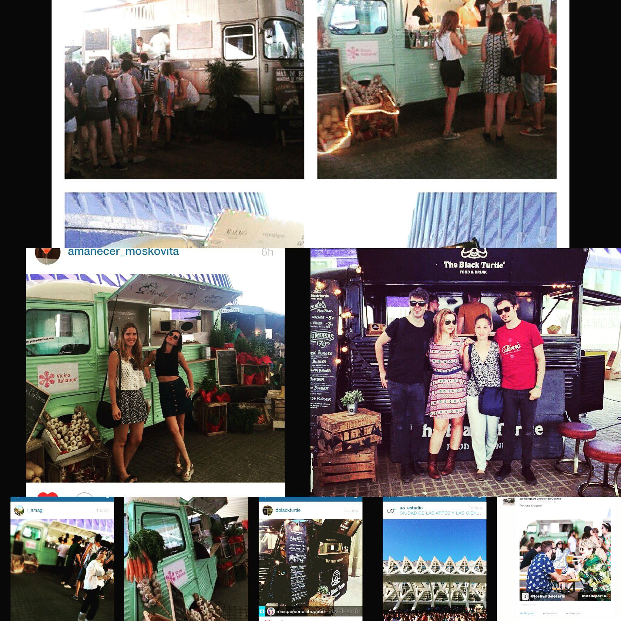 Nuestros food trucks en el Festival Les Arts de Valencia