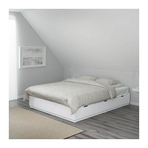Nordli Bettgestell Mit Schubladen Weiss Ikea Schweiz Bed Frame With Storage Ikea Bed Bed Storage