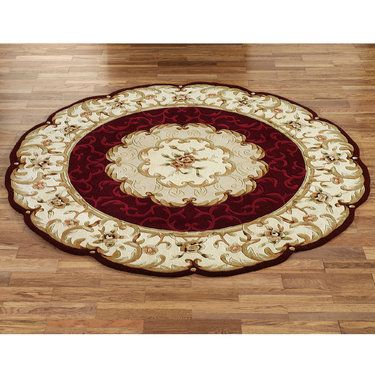 Evaline Wool Aubusson Round Area Rugs Round Area Rugs