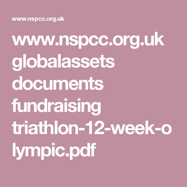 Www Nspcc Org Uk Globalassets Documents Fundraising Triathlon 12