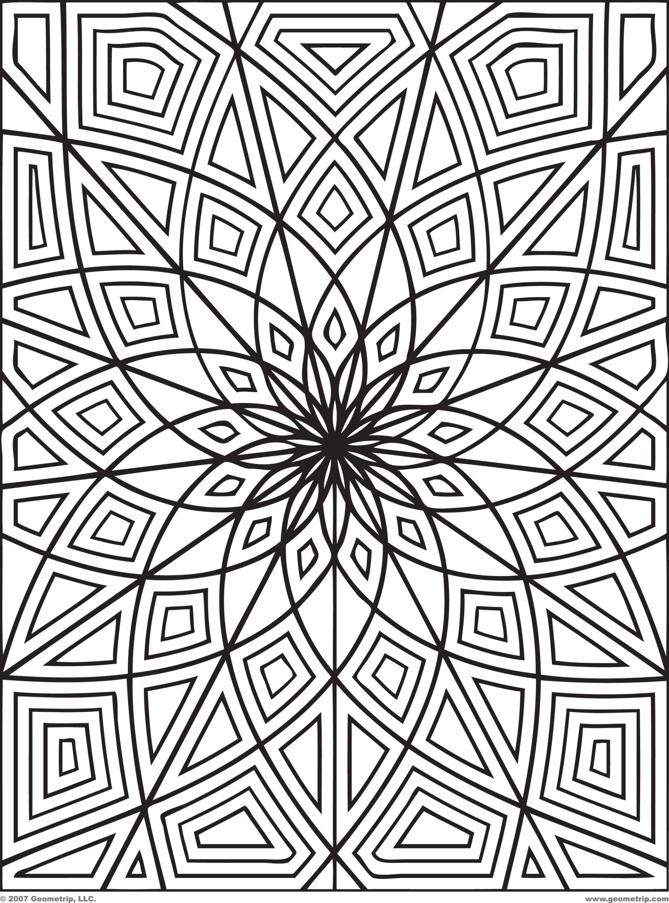 Geometric Design Color Page Pdf Coloring Coloring Pages