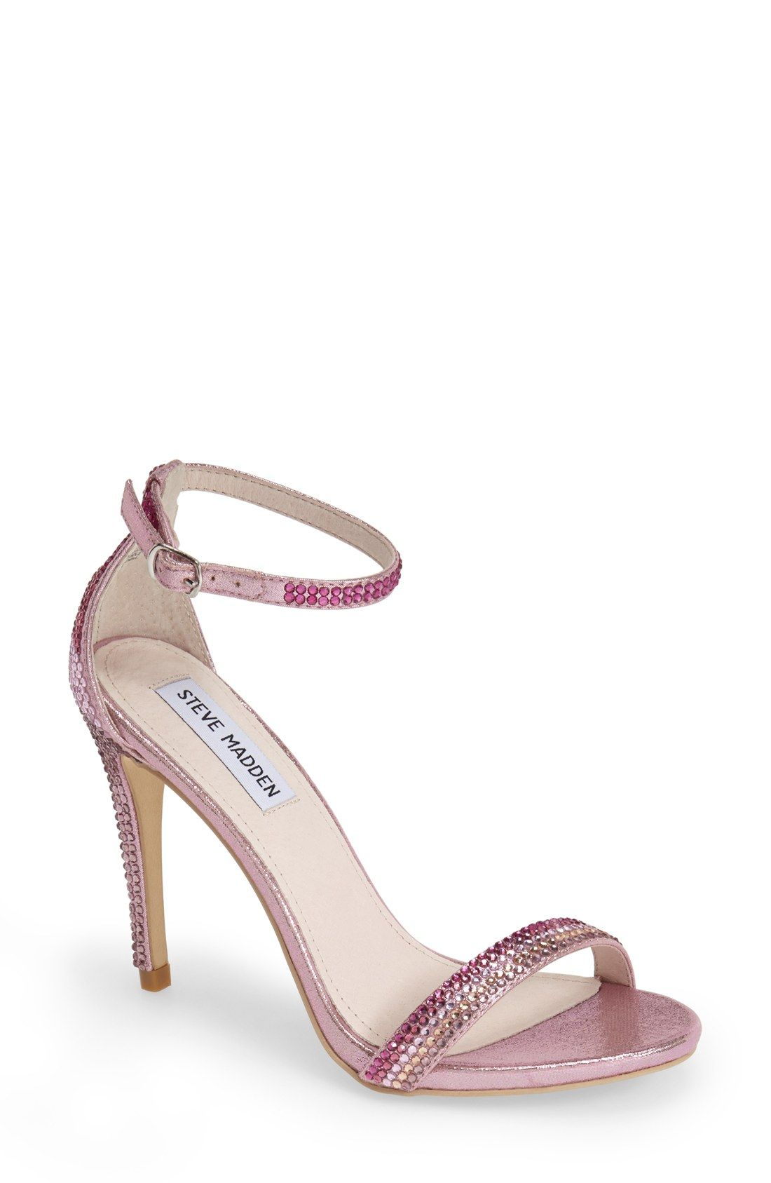 47ae692e7 Swooning over these glitzy pink Steve Madden sandals.   Women's ...