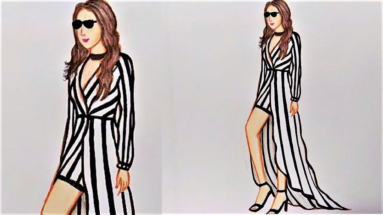 Easy Drawing Step by Step - How to Draw Beautiful Clothes ...