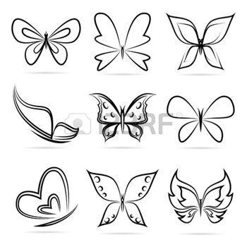 Tatouages papillon groupe de vecteur de papillons sur fond blanc id es tatouages tatouage - Dessin petit papillon ...