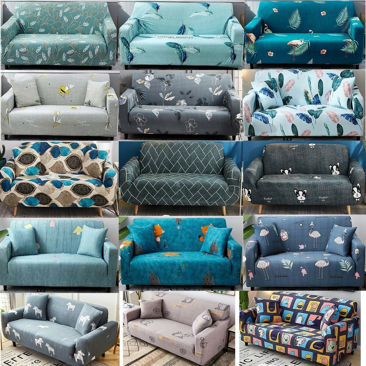 1234 Seater Elastic Stretch Sofa Cover Couch Cover Slipcovers Recliner Protector Kitchen Sofa Kitchensofa In 2020 Couch Covers Slipcovers Sofa Covers Couch Covers