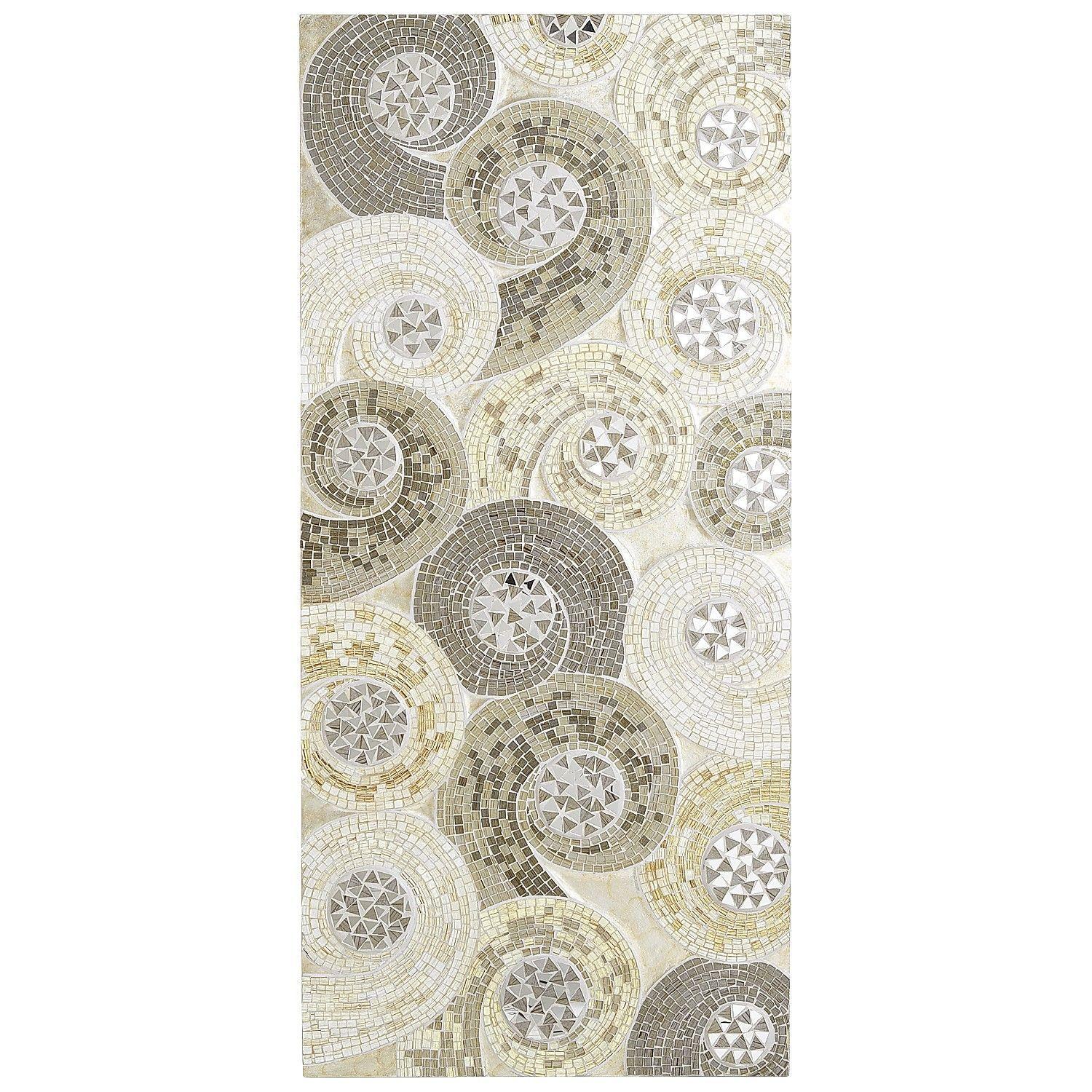 Mosaic Swirls Wall Panel - Silver - I think I need two of ...