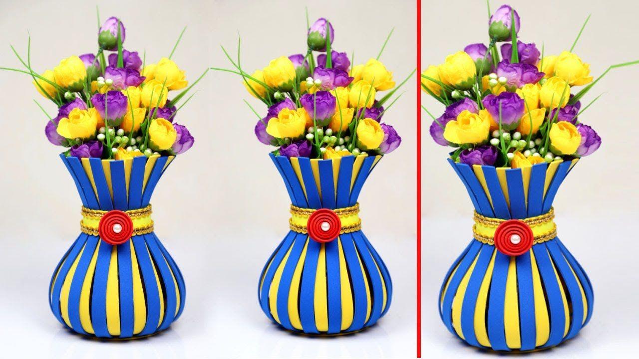 Diy Plastic Bottle Flower Vase Handmade Flower Vase Decoration Ideas Plastic Bottle Decoration Flower Vases Decoration Diy Plastic Bottle