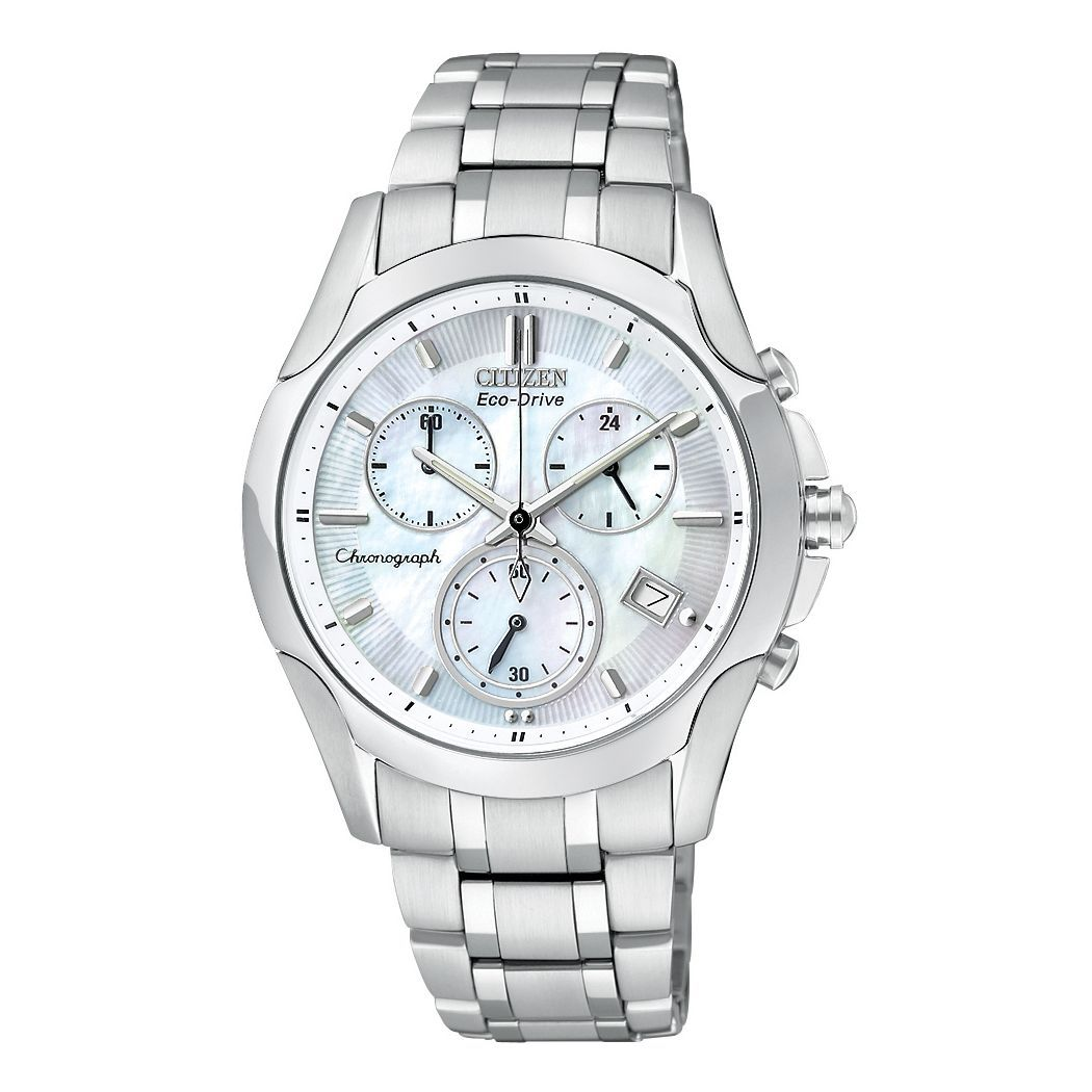 Ladies Citizen Regent Chronograph Bracelet Mother Of Pearl Dial Watch Uhren Damen Damenuhr Lady