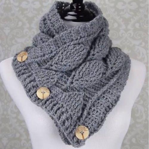 Crochet Leaf Stitch Cowl - Free Pattern (Beautiful Skills - Crochet ...