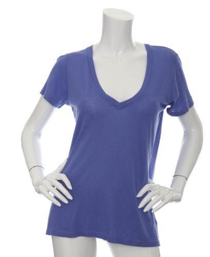 SPLENDID V-Neck T-Shirt Periwinkle Blue M NEW $64