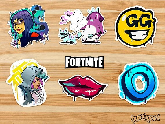Fortnite Stickers Fortnite In Game Spray Stickers
