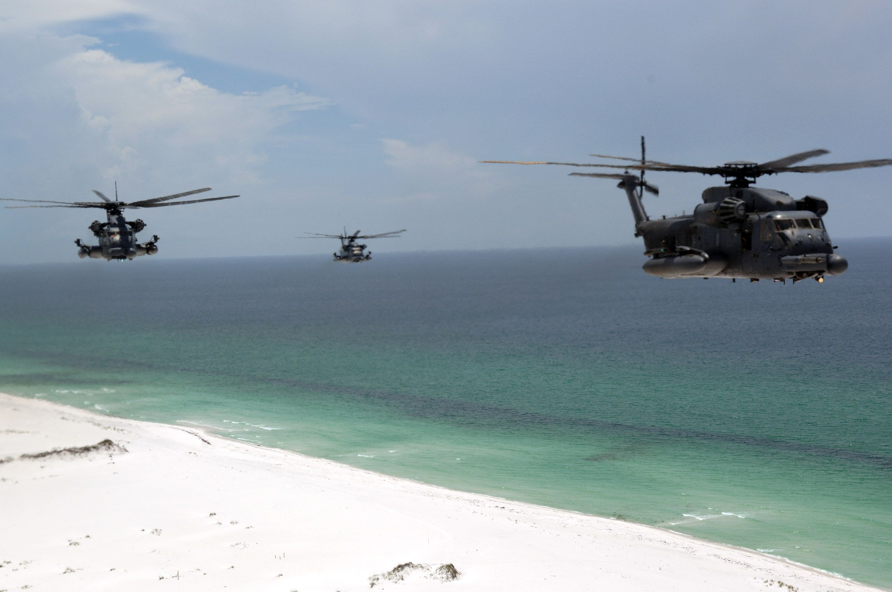 MH53 Pave Low helicopters from the 20th Special