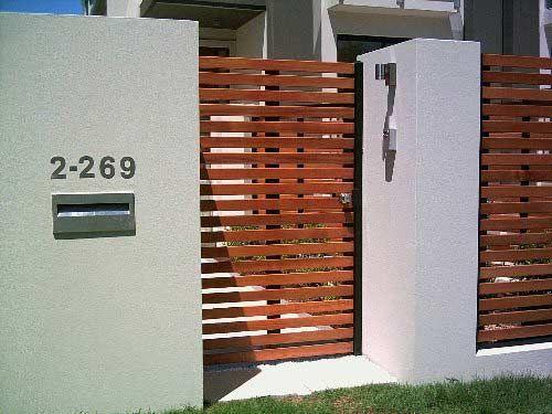 modern wood gate designs. Horizontal slat wood gate  Fachadas Pinterest Gate Woods and
