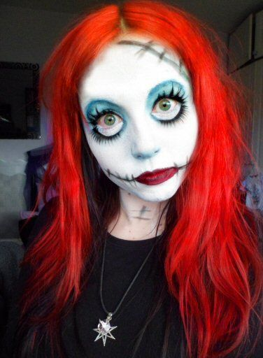 Rushed Makeup Idea As Sally For A Fancy Dress Party