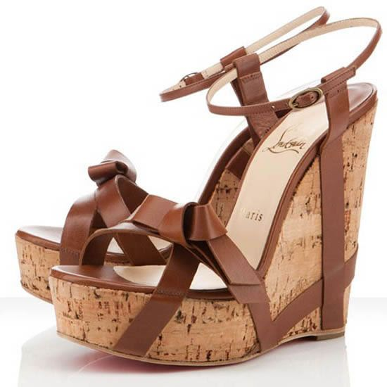 Sexy Christian Louboutin Miss Cristo 140mm Wedges Brown For Cheap Clearance  Sale Amazing | Christian Louboutin