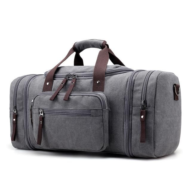 KVKY Brand Travel Bags Men s Large Capacity Handbag Luggage Travel Duffle  Bags Canvas Weekend Bags Multifunctional a4e879c8130d9