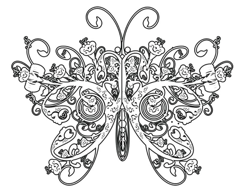 Butterfly Coloring Pages For Adults - Coloring Pages | ~ Butterfly ...