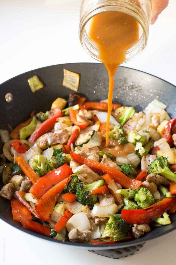 Broccoli And Bell Pepper Chicken Stir Fry, Made With The -7475