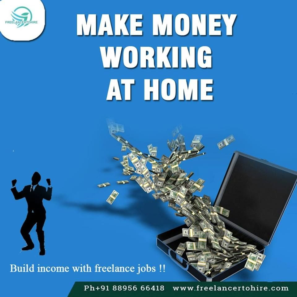 Make Money Working At Home Build Income With Freelance Jobs Freelancing Jobs Freelancer Website Online Jobs