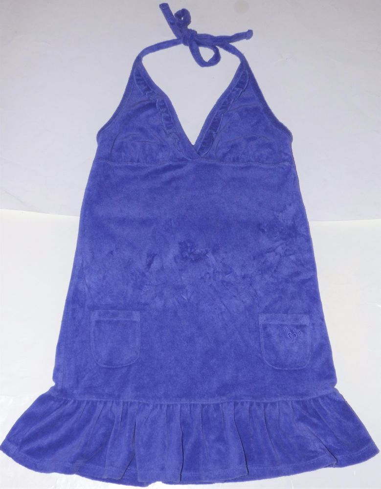 8faa148132 Justice Purple Terry Cloth Halter Ruffled Swim Swimsuit Cover-Up Dress  Girls 12 #Justice #CoverUp