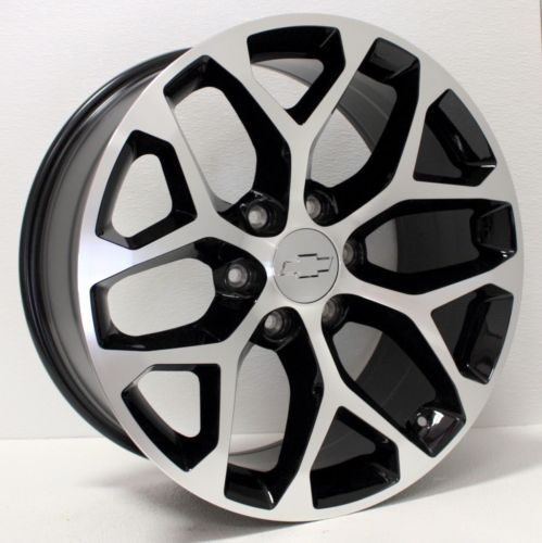 New 20 Inch Chevy Silverado Tahoe Ltz Black And Machined Snowflake Wheels Rims Chevy Silverado Chevy Wheels Rims