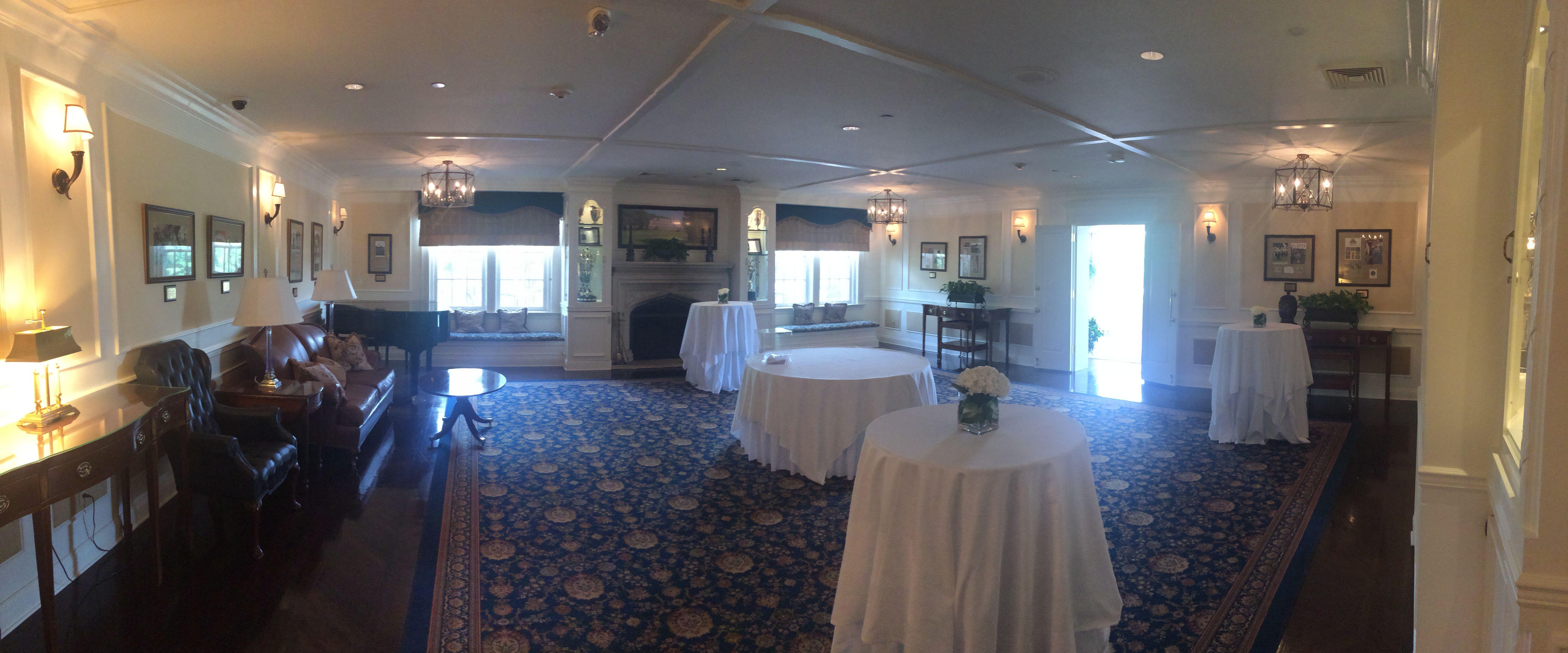 Entry room Golf club wedding reception, Golf club