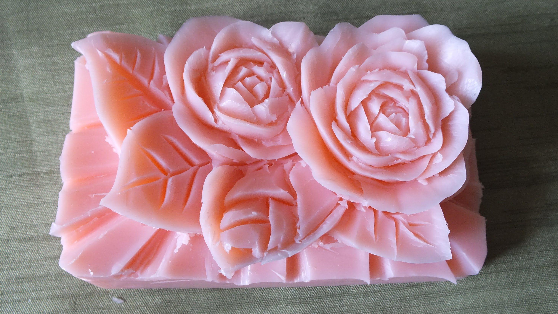 How to make carving soap a rose flowers handmade การแกะสลกผลไม