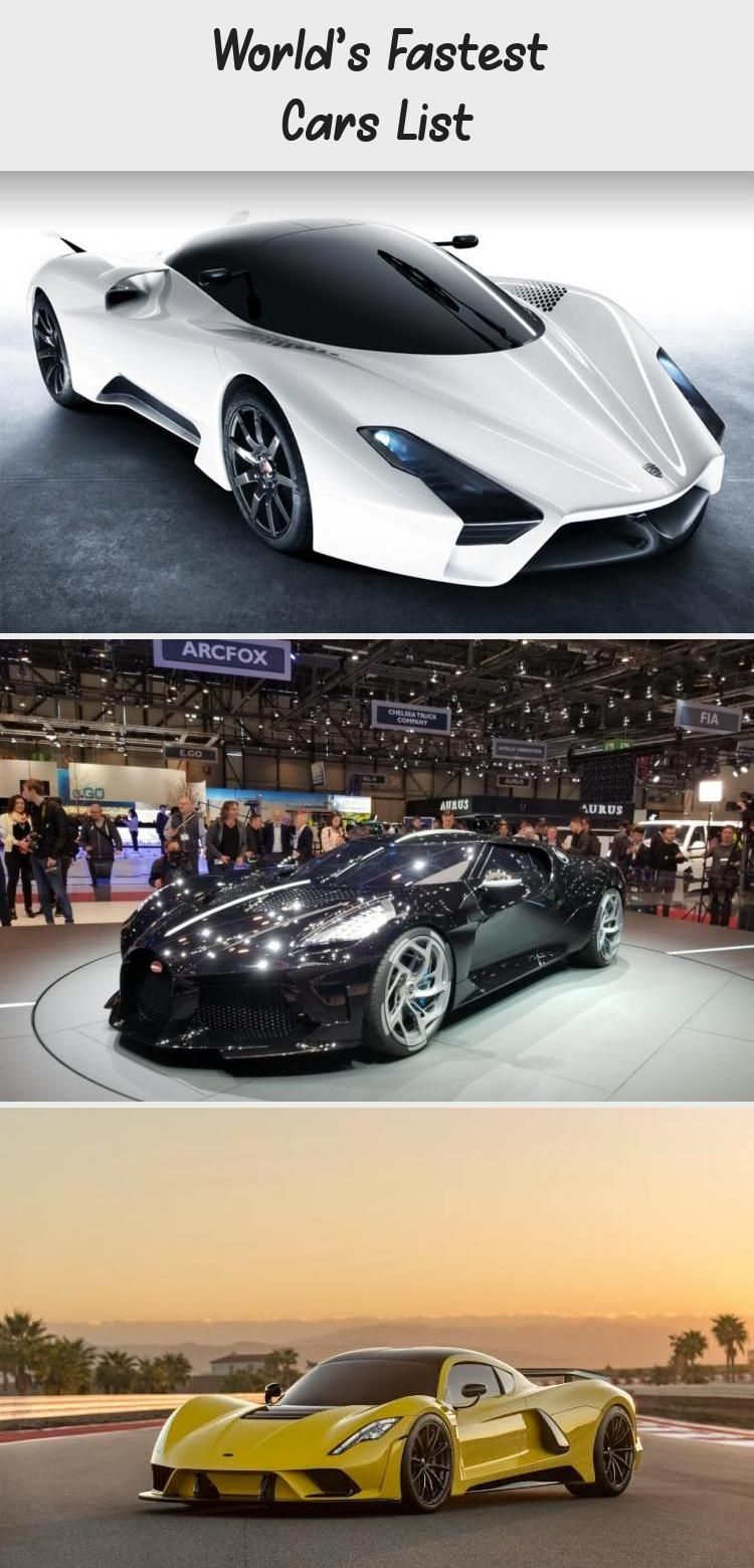 World S Fastest Cars List Car In 2020 Fast Cars Bugatti Veyron Super Sport Car In The World