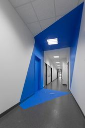 Photo of color tunnel perspective