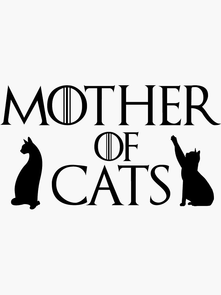 car personalize laptop window Game of Thrones inspired FATHER OF CATS vinyl decal sticker cat lover gift