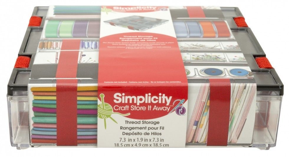 Simplicity Horizontal Thread Storage Container 8816007 in Crafts
