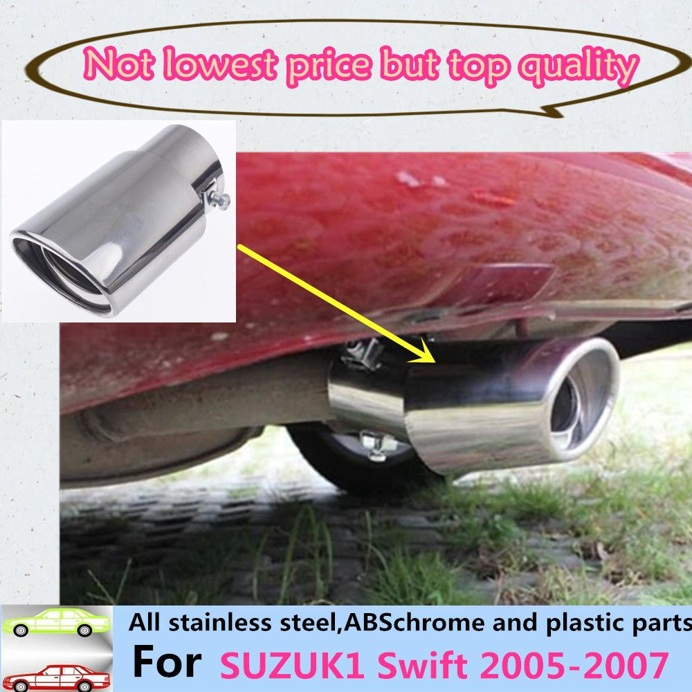 car styling cover muffler exterior end pipe dedicate stainless steel