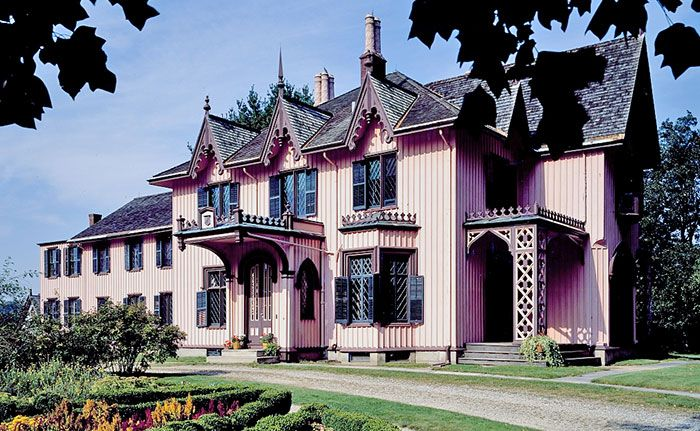 Roseland Cottage Gothic Revival Victorian House  - Victoriana Magazine (www.victoriana.com)