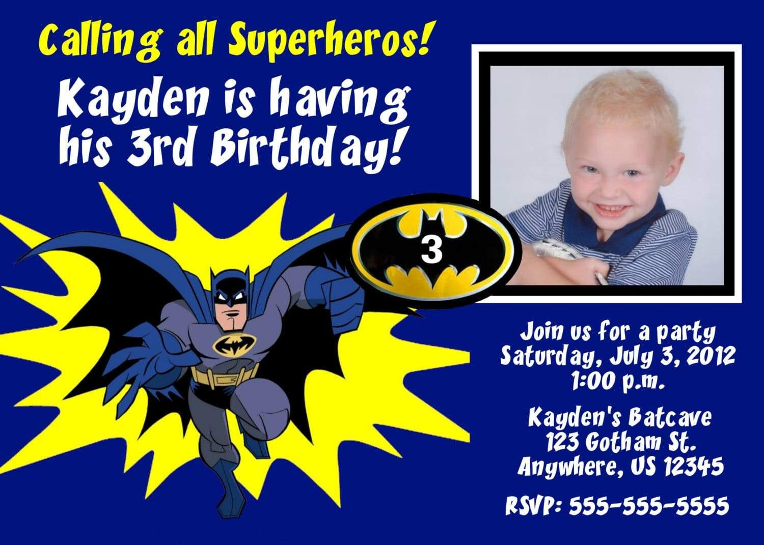 Cool Create Batman Birthday Invitations Free Templates