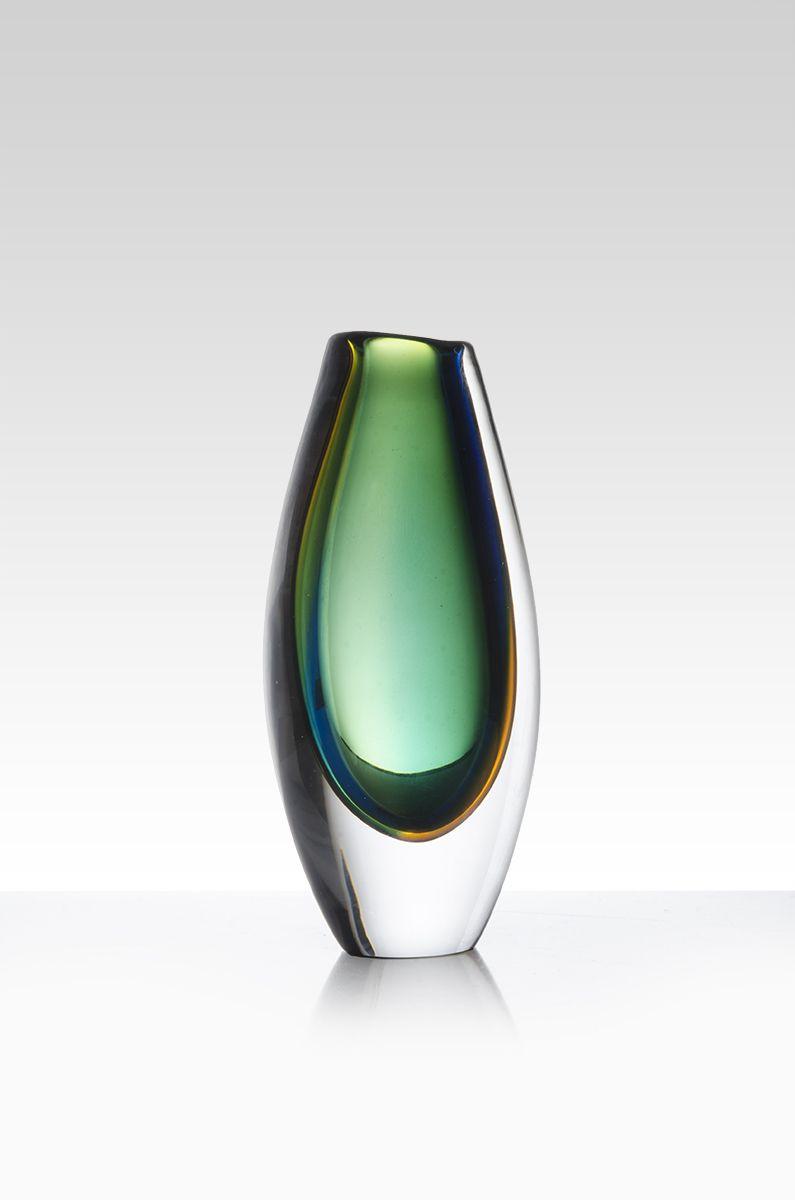 Vicke Lindstrand Glass Vase Modern Glass Vases Glass