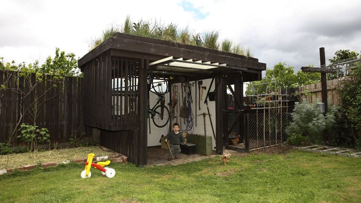 brenton weisert created this shed rooftop garden in west preston vic