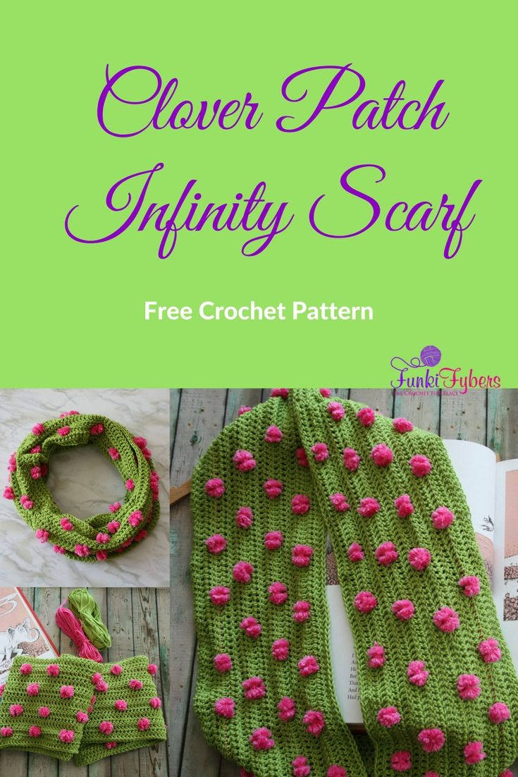 Free crochet pattern, This infinity scarf is easy to make using ...