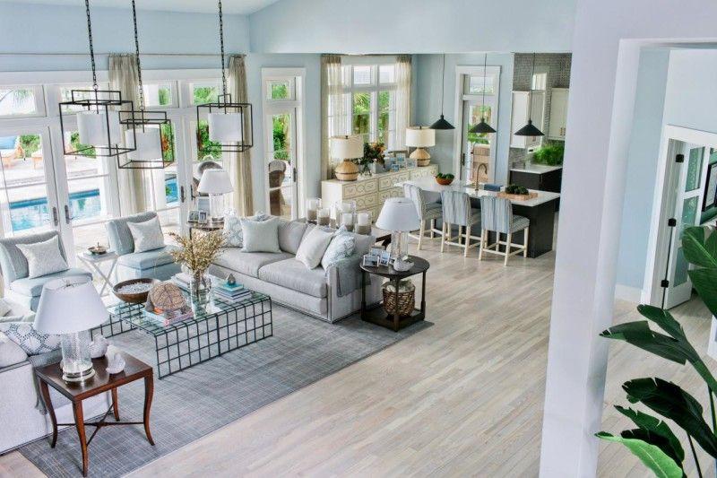 Hgtv Room Design Ideas Part - 34: HGTV Dream Home 2016 Foyer. HGTV Dream Home 2016 Foyer Paint Color Is  Glidden Quiet Rain. Trim Paint Color Is Glidden White. #GliddenQuietRain  #Gliu2026