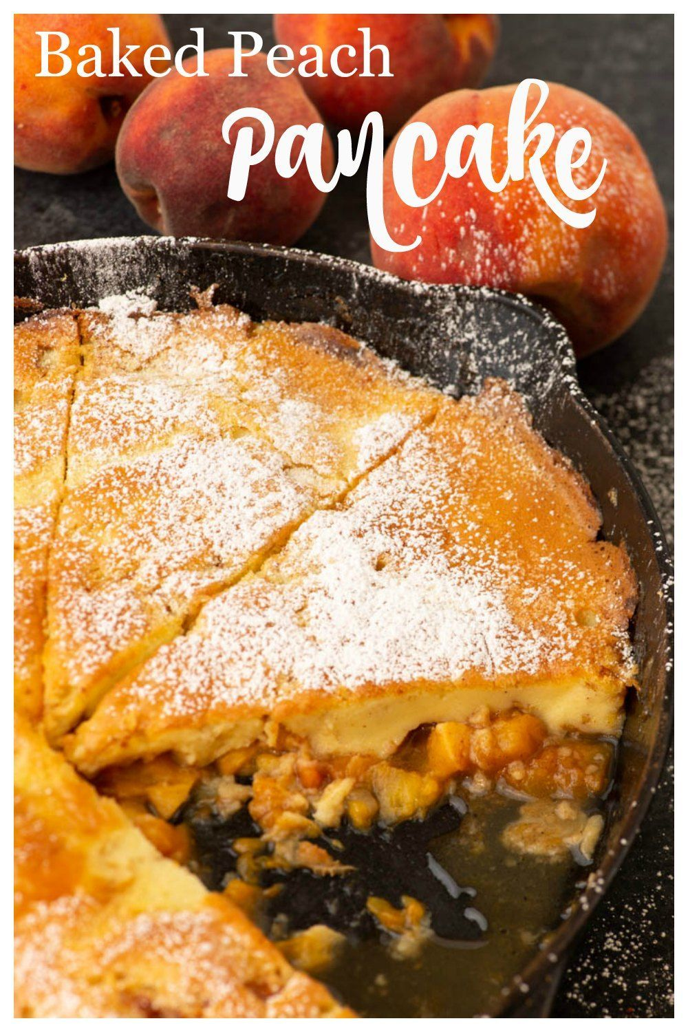 Dutch Baby Pancake A Peach Dutch Baby Pancake is just what you need for a lazy breakfast. Sweet peaches caramelized in a delicious pancake and everyone can eat at the same time!A Peach Dutch Baby Pancake is just what you need for a lazy breakfast. Sweet peaches caramelized in a delicious pancake and everyone can eat at the same time!