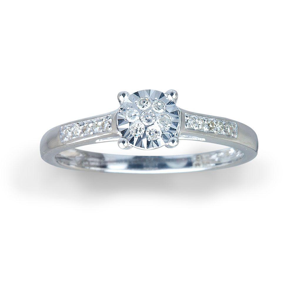pure brilliance 9ct white gold diamond ring | warren james