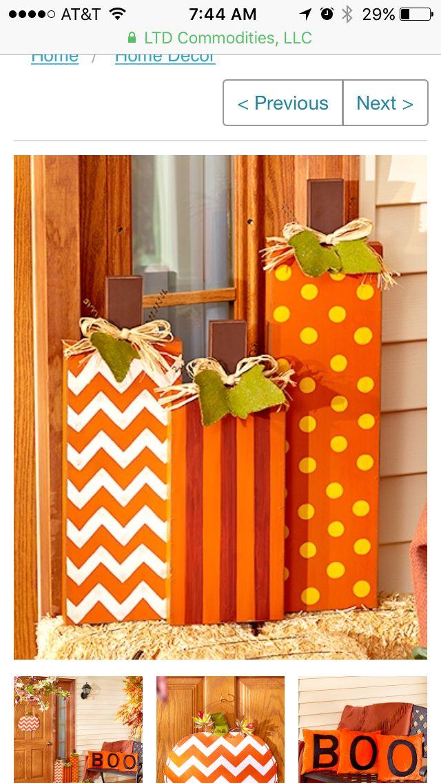 DIY Porch Pumpkins