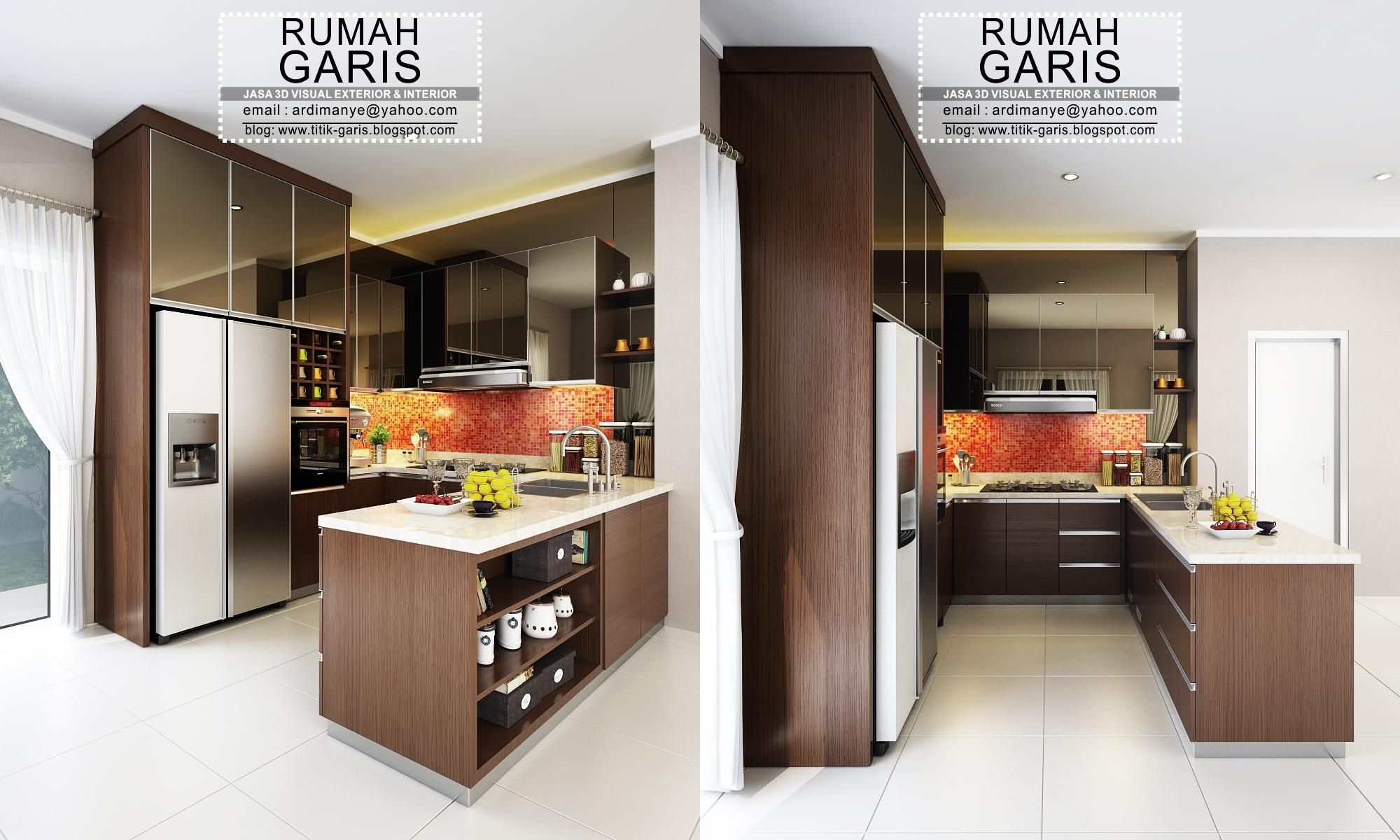 Jasa Desain Dan Kontraktor Interior Kitchen Set Letter