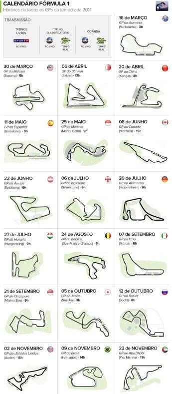 Formula 1 Calendario.Formula 1 Calendario 2014 Science Indy Cars F1 Racing