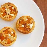 Pumpkin + Goat Cheese Tarts