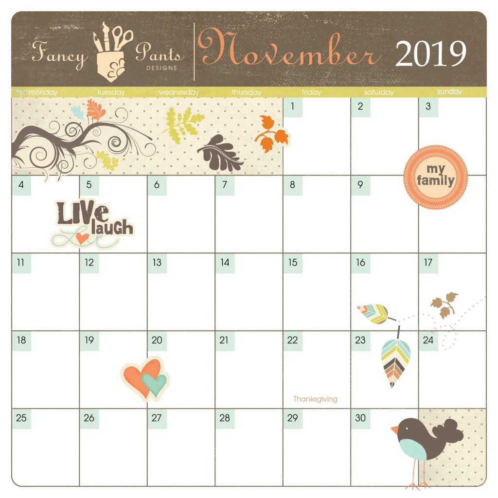 Cute November 2019 Calendar Designs With Images Calendar