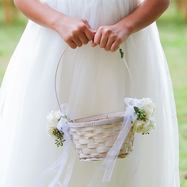 Elegant Flower Baskets Stands With Her Petal Filled