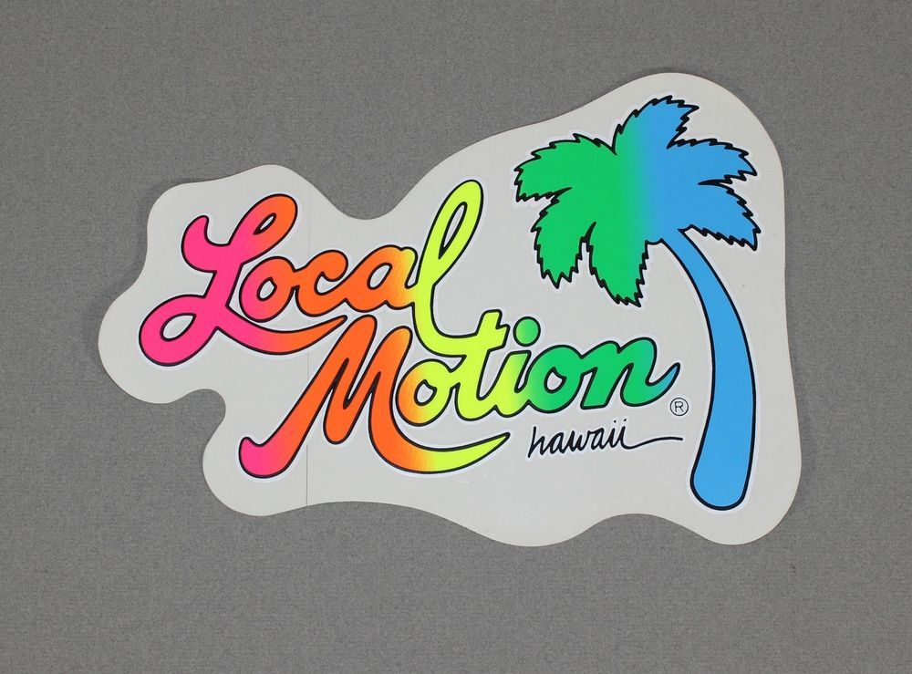 Vintage local motion surf sticker from the 1980s